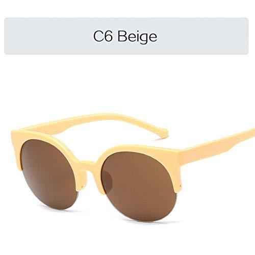 YHEGV Half Frame Cat Eye Sonnenbrille Frauen Klassische Retro Sonnenbrille Vintage Cateyes Frauen 'S Brille Brille