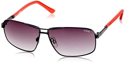 IDEE Square Sunglasses (IDS1849C1SG|100|Shiny Black and Red ) image