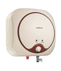 Havells Quatro 10-Litre Storage Water Heater (Ivory/Brown)
