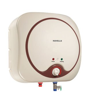 Havells Quatro 6-litre Storage Water Heater (ivory/brown)