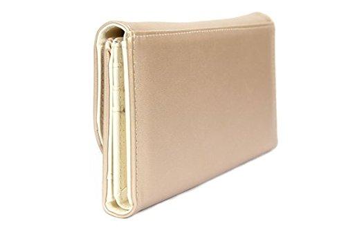 FreshGadgetz Set 1 Schwarz und weiße Handtasche für Damen Schnurrbart-Geldbeutel-Gold