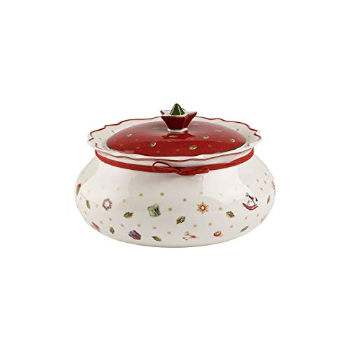 Villeroy & Boch Toy's Delight Mittelgroße Vorratsdose, Premium Porzellan, Weiß/Rot
