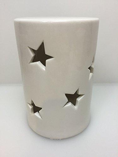 LED Lámpara Star con estrella H16D10cm Porcelana Blanco