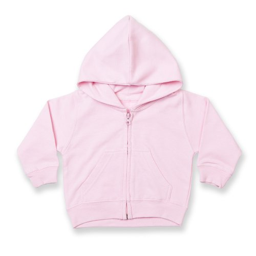 Larkwood Baby/Kids Zip Through Hooded Sweatshirt / Hoodie (12-18) (White)