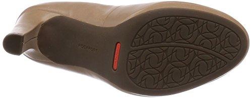 Rockport Seven To 7 Ally Plain Pump, Chaussures à talons - Avant du pieds couvert femme Beige - Beige (Taupe chaud)