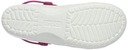 Crocs Karinclog, Zoccoli Donna Bianco (White/Floral)