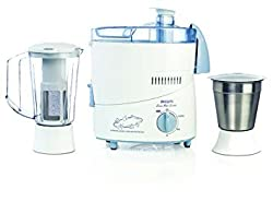 Bajaj philips HL1631 1juicer mixer grinder(white with blue accents, 2 jar)
