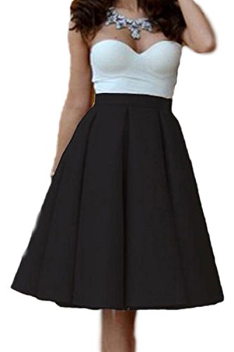 Sweetheart Patchwork Swing Party Dress des femmes Black