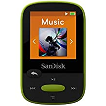 Reproductor MP3 SanDisk Clip Sport de 8 GB, color verde