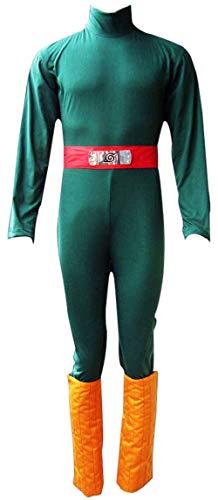 CHIUS Cosplay Costume Hidden Leaf Village Shinobi Rock Lee Outfit Version 1