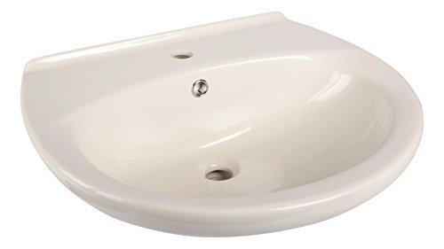 Waschtisch | 60 cm | Pergamon | Waschbecken | Waschtisch | Bad | Badezimmer | Gäste-WC | Mit Überlaufschutz | Keramik