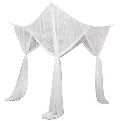 Moskitonetz Doppelbett großes rechteckiger Mückennetz Kastenform 4 offenen Seiten für Camping, zu Hause, Garten, Betthimmel für Bett 190 * 210 * 240cm