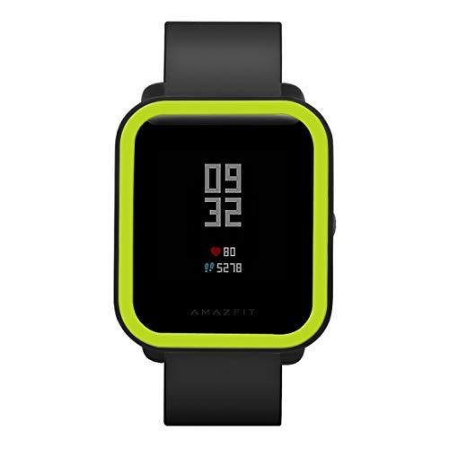 Nosii Weiche TPU Full Case Schutzhülle Schutzhülle für Huami Amazfit Bip Youth Watch Smart Watch Zubehör (Color : Black+Green)