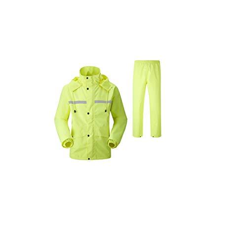 GJFeng Männer Und Frauen Im Freien Spalten Regenmantel-Regenhosen Doppelte Art Und Weise Erwachsener, Der Elektroauto Poncho Klettert (Farbe : Gelb, größe : XXXXL)