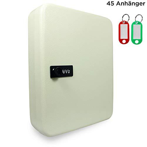 SAFE - Caja Fuerte para Llaves con código numérico, 3 dígitos, 45 Ganchos, Incluye Tacos para Colgar...