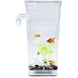 Pandure LED Petit Aquarium,Aquarium pour Betta et Poisson Rouge,Pas Besoin de Changer d'eau
