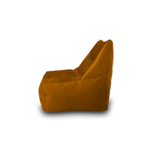 Pufmania Bean Bag Beanbag Chair Polyester Waterproof 75 x 75 cm (Ochre)