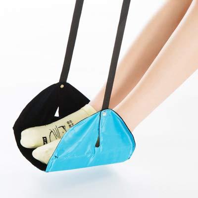JINGQI Fußablage, tragbare Reise Fußraste Fluggepäck-Fußstütze höhenverstellbar Fußstütze verbessert die Durchblutung und entspannt die Muskeln für die ultimative Reisekomfort,Blau