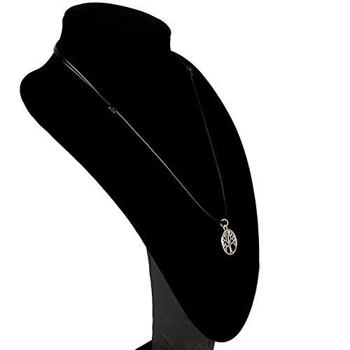 Amonfineshop New Tree of Life-Charme-Anhänger-Halsschmuck mit schwarzer Schnur Halskette - 4