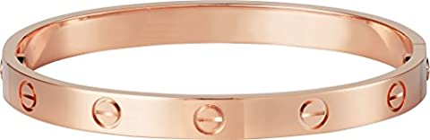 LUXEFUL® - Bracelet Bangle Love Stainless Steel Men & Women (Rose Gold Women)