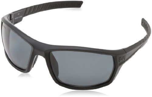Under Armour Ranger Satin Black (Exterior) - Shiny Black (Interior) Frame, with Black Rubber and Storm (ANSI) Gray Polarized Lens