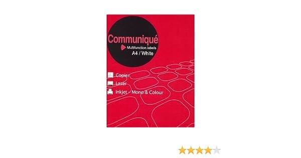 Communique Multifunction Labels 10 Labels per Sheet 99.1x57mm