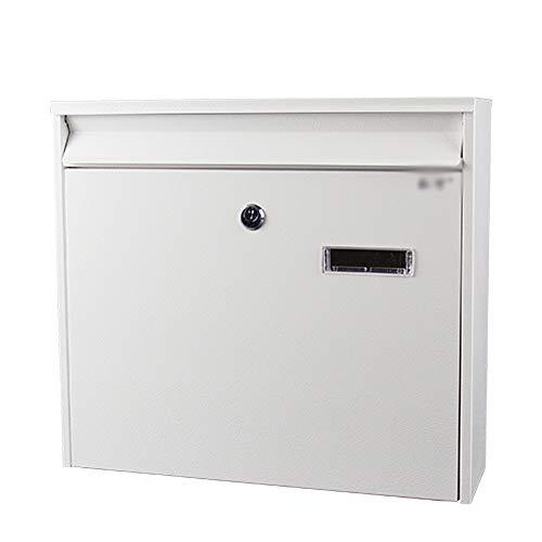 Briefkasten Briefkasten - verzinkter Bogen, an der Wand montierter Outdoor-Briefkasten for einfache Mode mit Diebstahlsicherung, geeignet for Express-Aktentaschen, Zeitungen, in zwei Farben erhältlich - Bu Mode