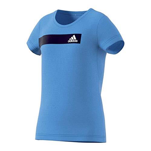 adidas Performance DV2738 Kinder Mäddchen Jungen Funktionsshirt aus atmungsaktivem Material, Groesse 176, hellblau