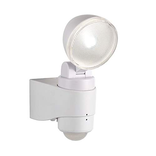 2w Single (Saxby Laryn 2W Single White im Freien Garten Batteriebetriebene PIR Bewegungsmelder IP44 Security LED Wandstrahler)