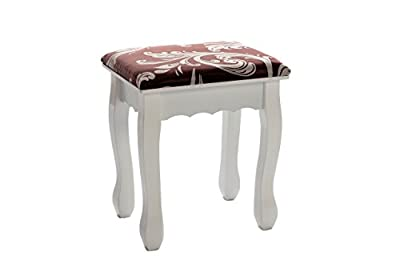 White Stool Dressing Table Vanity Style Upholstered Chair With Floral Decoration ? NIGHTINGALE RANGE ? PREMIUM QUALITY ? FREE NEXT DAY DELIVERY ? - inexpensive UK dressing table store.