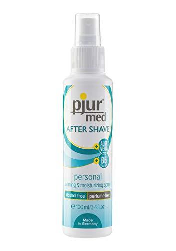 pjur med AFTER SHAVE - Pflegespray für Frauen und Männern - mit Aloe Vera zur sanften Hautpflege - effektiv gegen Rasurbrand - 1er Pack (1 x 100 ml)