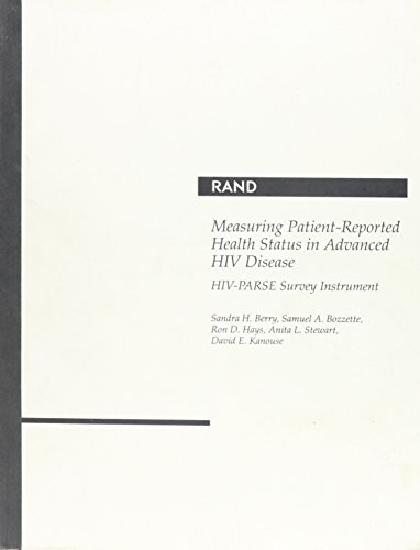 Measuring Patient-reported Health Status in Advanced HIV Disease: HIV-Parse Survey Instrument/Mr-342-Niaid