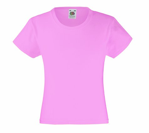 Mädchen T-Shirt Girls Kinder Shirt - Shirtarena Bündel 140,Rose