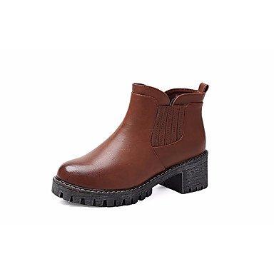 Stivali da donna Comfort Uomo Primavera Casual Comfort Marrone Nero Piatto Brown
