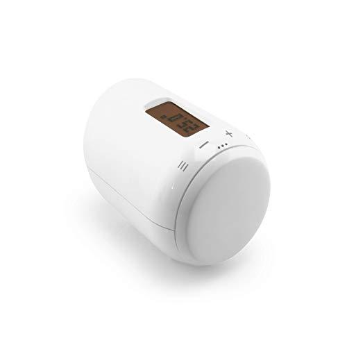 Eurotronic GENIUS LCD 100 Heizkörperthermostat, bis 30 {7cdca208aeb23bc78cf357643ec0dfe03b82286aa14aae689fbe4fbf1f480b33} Heizkosten sparen, per App steuerbar, Heizungsthermostat inkl. Adapter + Batterien, Smarthome-Zubehör
