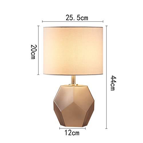 Haushalt Moderne minimalistische Geometrische Diamant Glas Lampe, kreisförmige Stoff Lampenschirm, europäischen warmen Hause Wohnzimmer Schlafzimmer Lampe Lampe (Color : Dark gray) - Lampenschirme Kreisförmige
