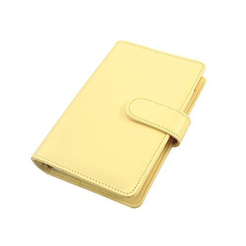 laconile A6PU Leder Spiral Notizbuch, Drahtkammbindung Täglich Wöchentlich Monatlich Agenda Kalender Schreiben Bücher Filofax Planer Organizer mit Stiftschlaufe, Innentasche (gelb) (Täglich Wöchentlich Monatlich Planer)