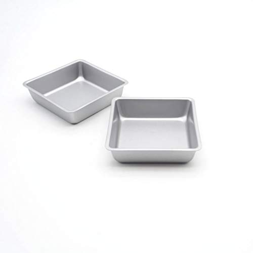 Wenwenzui Square Bread Pudding Cake Cup Mold Nonstick Muffin Baking Pan Bakeware Tool Perfect Brownie Pan Set