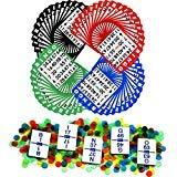 Regal Games Bingo-Spielsets mit 13,97 cm Bingo-Karten, Bingo-Calling-Kartendeck, Bingo-Chips, 100 Cards - 1,000 Chips