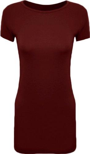 Fashion 4 moins grand Plus pour femme Uni Robe bodycon à manches Cap Dress.UK GM 16 à 20 Rouge - Bordeaux