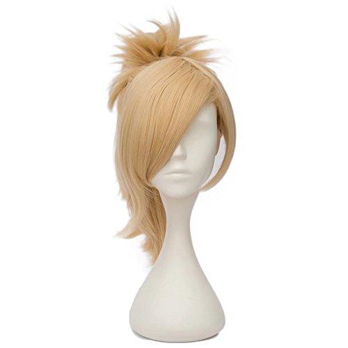 Estyle Fashion 12 Inches(30CM) Kurz Ponytail Lolita Party Dame Cosplay Hair Full Wig Perücke (Blond) (Blonde Lolita Perücke Für Erwachsene)
