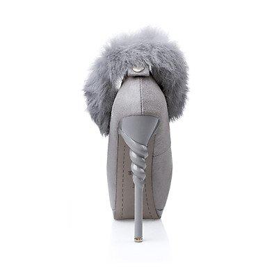 Moda Donna Sandali Sexy donna tacchi Primavera / Estate / Autunno / Inverno Gladiator / Comfort / Novità Nozze in similpelle / Party & sera abito / / Casual Burgundy