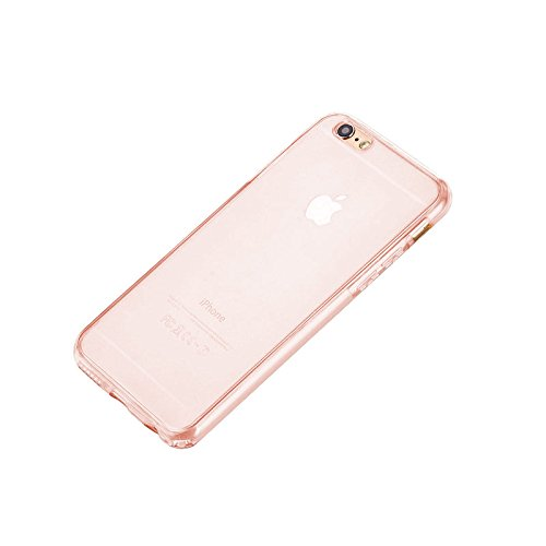Minto Crystal TPU Full Body 360 ° Hülle iPhone 7 Plus Silikon Case Cover Etui Tasche - transparent Komplett Schutzhülle Rosegold -i7