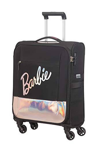 American Tourister Modern Glow Barbie - Soft Spinner S, nero (Shimmer Power Barbie)