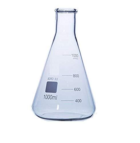 Rocwing Boro 3.3 Glas Erlenmeyerkolben für das Labor (1000ml)