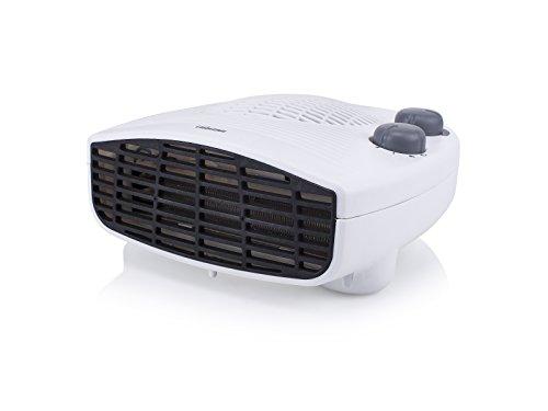 Tristar KA-5046 (Ventilator) Elektroheizung mit 3 Leistungsstufen und Ventilatorfunktion-Regelbarer Temeperatur-Thermostat, Schwarz, Grau, Weiß