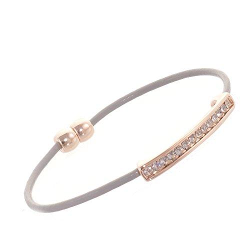 e Gold Ton glitzernden Leder Magnetverschluss Armband (Glitzernden Kostüm Schmuck)
