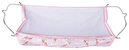 Soft Cloth Swing New Born Baby Cradle / Ghodiyu Hammock in Cool Cotton With Net, Pink
