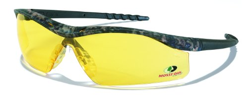 MCR Safety MODL114 Mossy Oak Single Lens Glasses with Dallas Camo Frame and Amber Lens by MCR Safety - 3