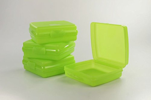 TUPPERWARE To Go Sandwich-Box limette (4) Brotbox Pausenbrotbehälter Schule A126 P 23306